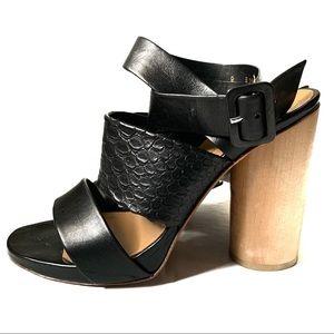 Robert Clergerie for Barney's NY Black Sandal sz 9